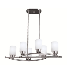 Kichler Chandelier Linear 6 Light in Brushed Nickel