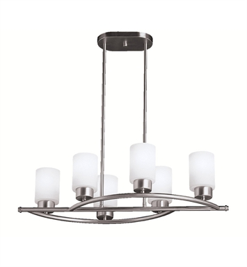 Kichler 3031NI Chandelier Linear 6 Light in Brushed Nickel