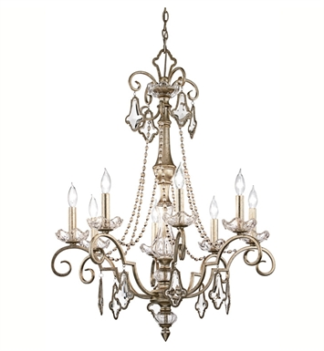 Kichler 42116SRM Gracie Collection Chandelier 8 Light in Sunrise Mist