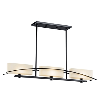 Kichler 42017NI Suspension Collection Chandelier Linear 3 Light Halogen With Finish: Brushed Nickel