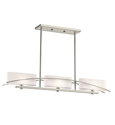 Kichler Suspension Collection Chandelier Linear 3 Light Halogen in Brushed Nickel