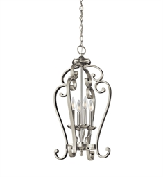 Kichler Monroe Collection Chandelier Foyer Cage 4 Light in Brushed Nickel