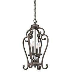 Kichler Monroe Collection Chandelier Foyer Cage 4 Light in Olde Bronze