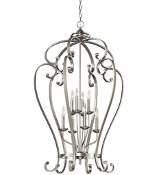 Kichler Monroe Collection Chandelier Foyer Cage 8 Light NI in Brushed Nickel