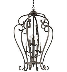 Kichler Monroe Collection Chandelier Foyer Cage 8 Light NI in Olde Bronze