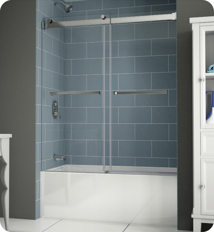 Bathtub doors basco 60 in w x 57 in h oil rubbed bronze for Shower doors for sale