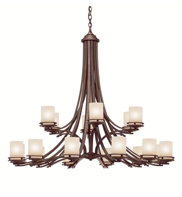 Kichler 1873OZ Hendrik Collection Chandelier 18 Light in Olde Bronze