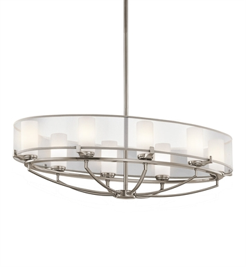 Kichler 42922CLP Saldana Collection Chandelier 8 Light in Classic Pewter