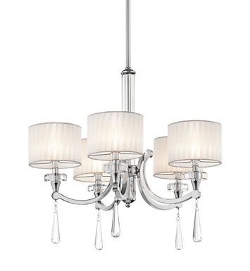 Kichler 42631CH Parker Point Collection Chandelier 5 Light in Chrome