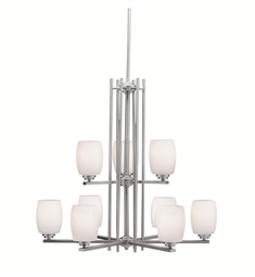 Kichler Eileen Collection Chandelier 9 Light in Brushed Nickel