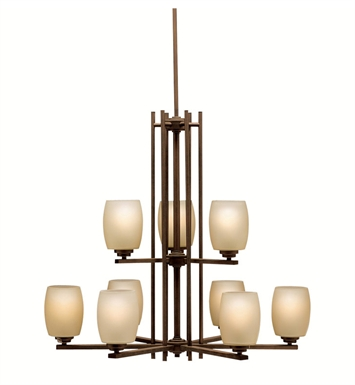 Kichler 1897OZ Eileen Collection Chandelier 9 Light in Olde Bronze