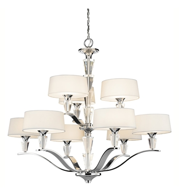 Kichler 42031CH Crystal Persuasion Collection Chandelier 9 Light in Chrome