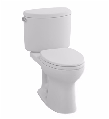 TOTO CST453CEFG#01 Drake® II Two-Piece Toilet, Round Bowl, 1.28 GPF Left Hand Trip Lever With Finish: Cotton