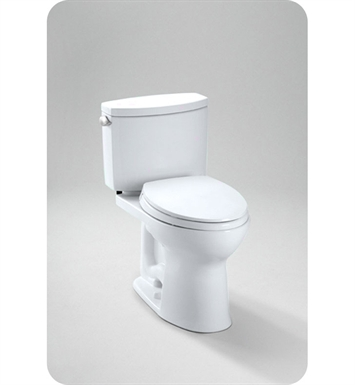TOTO CST454CEFRG Drake II Two Piece Toilet, 1.28 GPF SanaGloss® Right Hand Trip Lever