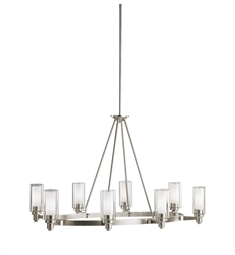 Kichler Circolo Collection Chandelier 8 Light in Brushed Nickel