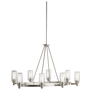 Kichler 2345NI Circolo Collection Chandelier 8 Light in Brushed Nickel