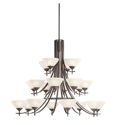 Kichler Olympia Collection Chandelier 20 Light in Olde Bronze