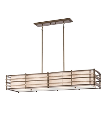 Kichler 42099CMZ Moxie Collection Chandelier Linear 4 Light in Cambridge Bronze