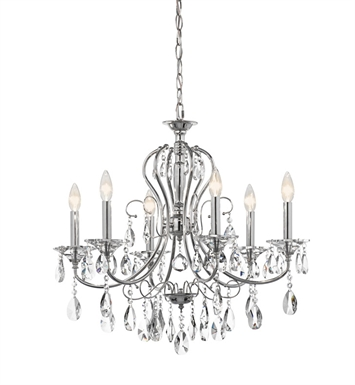 Kichler Jules Collection Chandelier 6 Light in Chrome