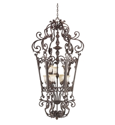 Kichler Wilton Collection Chandelier Foyer Cage 9 Light in Carre Bronze