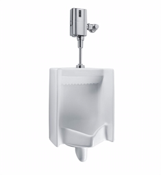 "TOTO UT445U#01 Commercial Washout High Efficiency Urinal with 3/4"" Top Spud Inlet, 0.125 GPF - ADA"