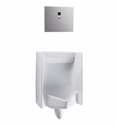 "TOTO UT445UV#01 Commercial Washout High Efficiency Urinal with 3/4"" Back Spud Inlet, 0.125 GPF - ADA"