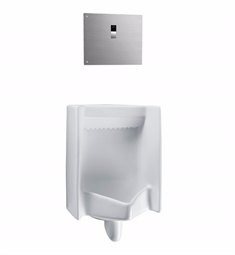 "TOTO UT447EV Commercial Washout High Efficiency Urinal with 3/4"" Back Spud Inlet, 0.5 GPF - ADA"