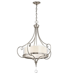 Kichler Lara Collection Chandelier/ Pendant 3 Light in Classic Pewter