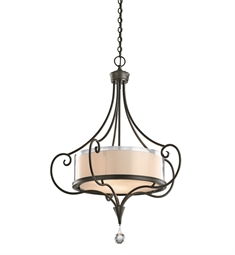Kichler 42864SWZ Lara Collection Chandelier/ Pendant 3 Light in Shadow Bronze