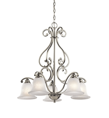 Kichler 43225OZ Camerena Collection Chandelier 5 Light With Finish: Olde Bronze