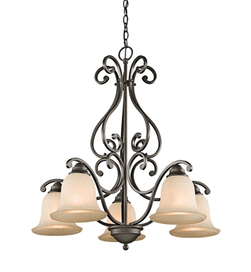 Kichler 43225OZ Camerena Collection Chandelier 5 Light in Olde Bronze