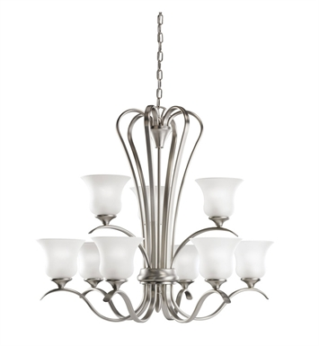Kichler 2086NI Wedgeport Collection Chandelier 9 Light With Finish: Brushed Nickel