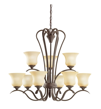 Kichler 2086OZ Wedgeport Collection Chandelier 9 Light in Olde Bronze