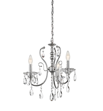 Kichler Jules Collection Mini Chandelier 3 Light in Chrome