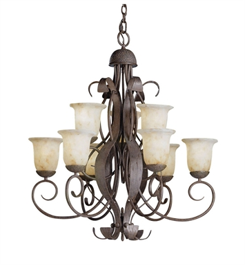 Kichler High Country Collection Chandelier 9 Light in Old Iron