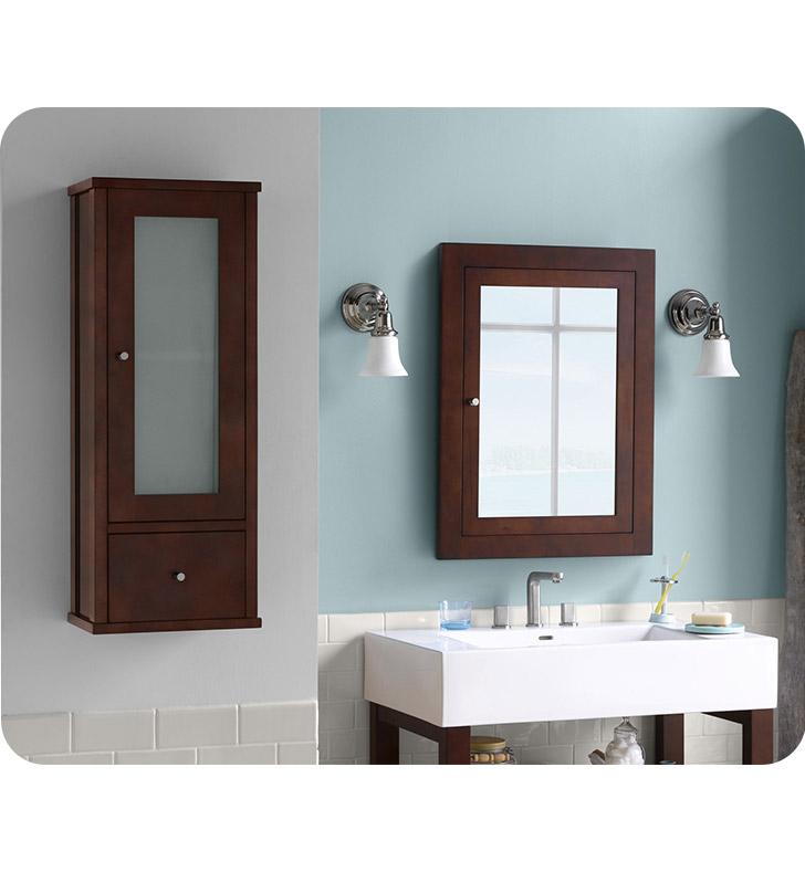 Ronbow 687032 H01 Contemporary 32 Bathroom Wall Cabinet In Dark Cherry