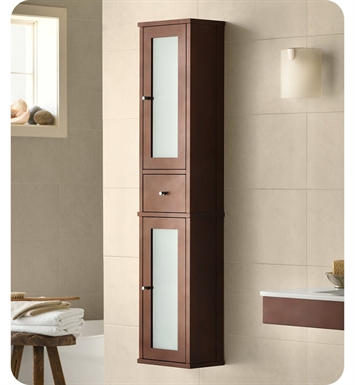 Ronbow 687156 H01 Tall 55 Bathroom Wall Cabinet In Dark Cherry
