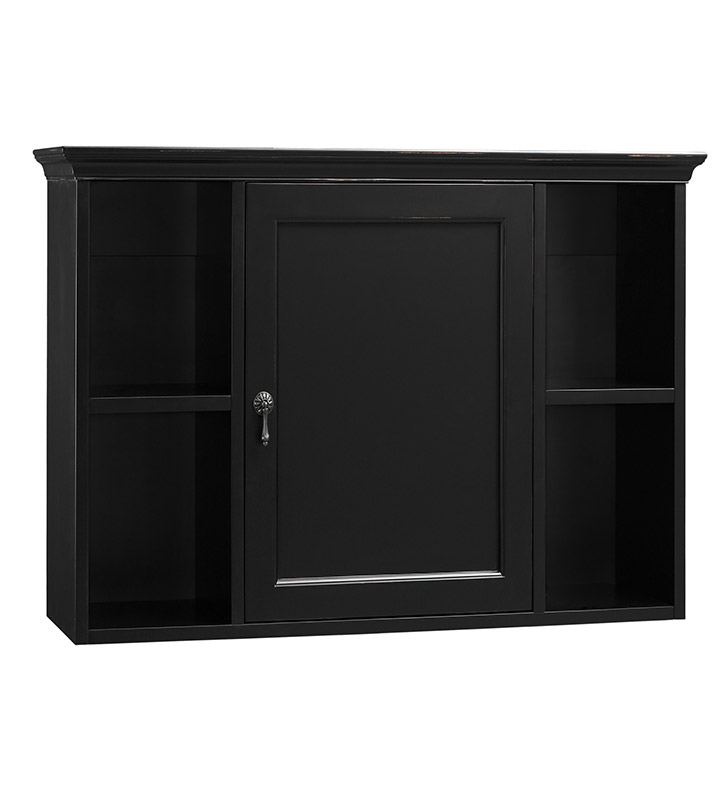 ronbow 688225 b01 traditional bathroom wall cabinet in antique black