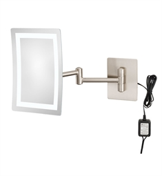Aptations 949 Kimball & Young Single-Sided LED Lighted Rectangular Magnified Makeup Wall Mirror