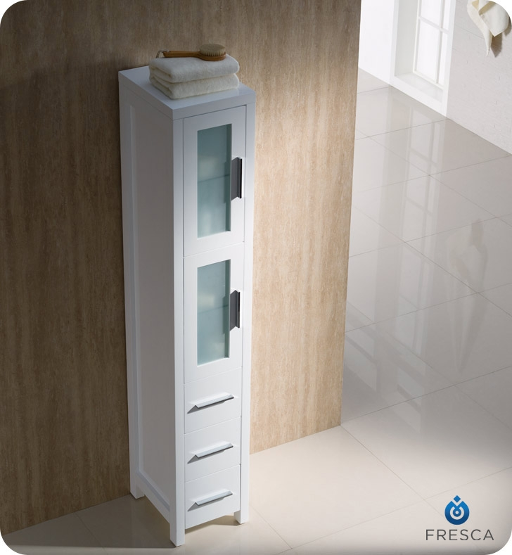 tall linen cabinets for bathroom fresca fst6260wh torino bathroom linen side cabinet 24311