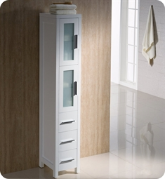Fresca FST6260WH Torino Tall Bathroom Linen Side Cabinet in White