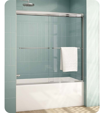 "Fleurco ELT60 Banyo Cordoba Plus Bypass Tub Enclosure 60"" Semi Frameless Sliding Doors with 3/8"" Tempered Glass"