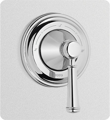 TOTO TS220X1#PN Vivian™ Three-Way Diverter Trim with Off - Lever Handle With Finish: Polished Nickel