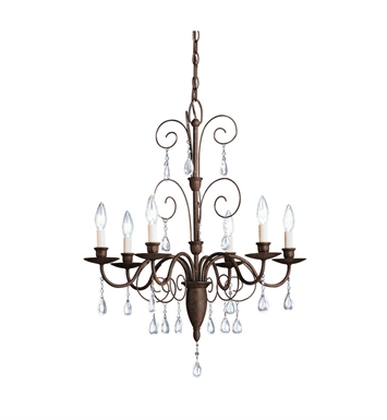 Kichler Barcelona Collection Chandelier 6 Light in Tannery Bronze
