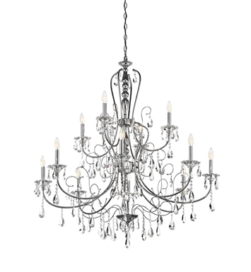 Kichler 43124CH Jules Collection Chandelier 12 Light in Chrome