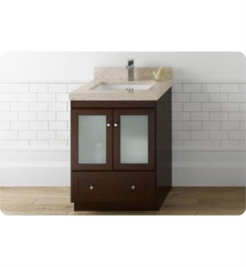 Ronbow 080830 1 H01 Shaker Modular 30 Bathroom Vanity Cabinet Base In Dark Cherry Frosted