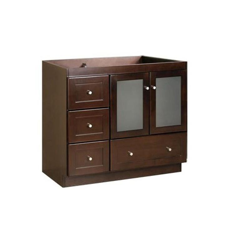 Ronbow 081930 1r H01 Shaker Modular 30 Bathroom Vanity Cabinet Base In Dark Cherry Frosted