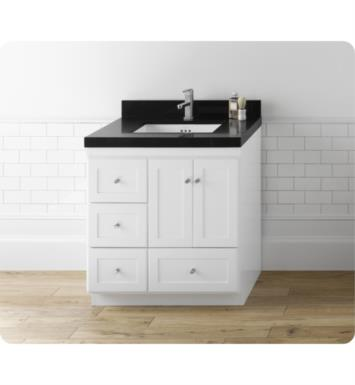 "30 Bathroom Vanity Base ronbow 081930-3r-w01 shaker modular 30"" bathroom vanity cabinet"