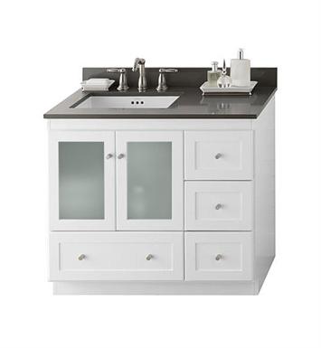 Ronbow 081936 1l w01 shaker modular 36 bathroom vanity - Bathroom vanity with frosted glass doors ...