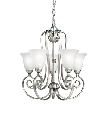 Kichler 1825NI Willowmore Collection Mini Chandelier 5 Light in Brushed Nickel